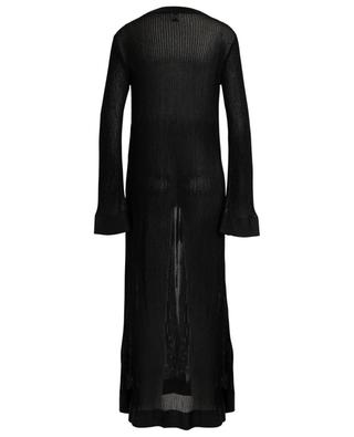 Long glittering openwork knit cardigan with link M MISSONI