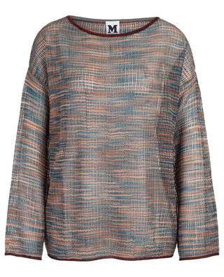 Crocheted knit long-sleeved top M MISSONI