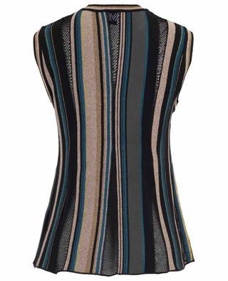 Sleeveless cotton blend striped top M MISSONI