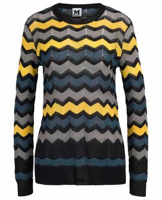 Long zigzag openwork knit jumper M MISSONI