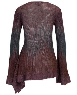 Openwork knit Lurex jumper with peplum M MISSONI