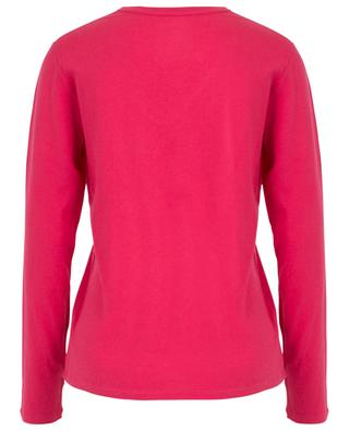 Long-sleeved V-neck T-shirt in cotton and cashmere MAJESTIC FILATURES