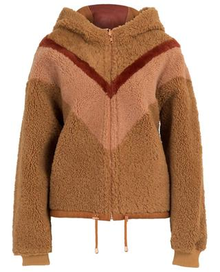 Graphic V reversible lambskin jacket SEE BY CHLOE