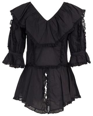 Cotton blouse with lace and V-neck SEE BY CHLOE