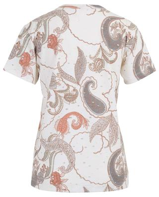 Paisley printed cotton T-shirt with rips SEE BY CHLOE