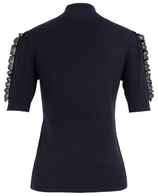 Short-sleeved lace knit top with stand-up collar SEE BY CHLOE