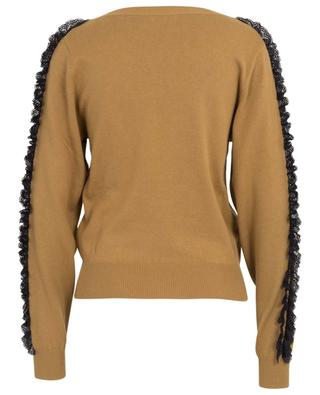 Lace adorned cotton and silk blend jumper SEE BY CHLOE