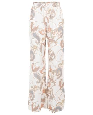 Paisley printed viscose wide leg trousers SEE BY CHLOE