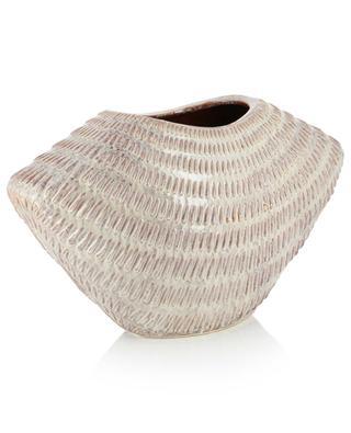Weite Vase aus texturierter Keramik KERSTEN