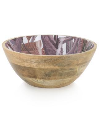 Monkeys enamelled mango wood bowl KERSTEN