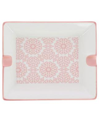 Floral design ceramic ashtray KERSTEN