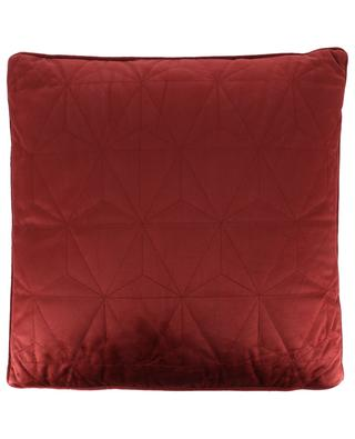 Square quilted velvet cushion KERSTEN
