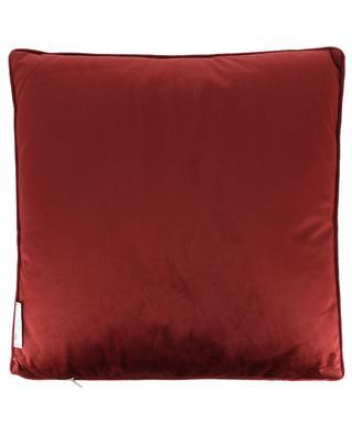 Square quilted velvet cushion KERSTEN