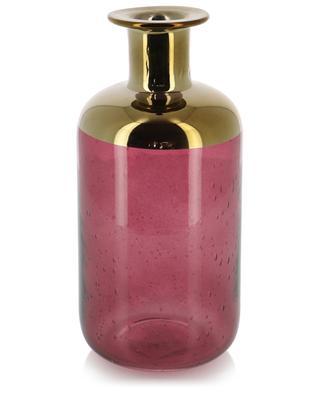 Glass vase with golden detail KERSTEN
