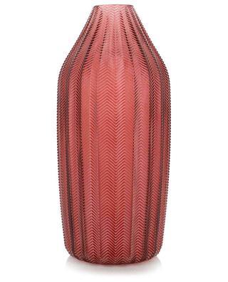 Grosse kannelierte Vase mit Zickzack-Motiv KERSTEN