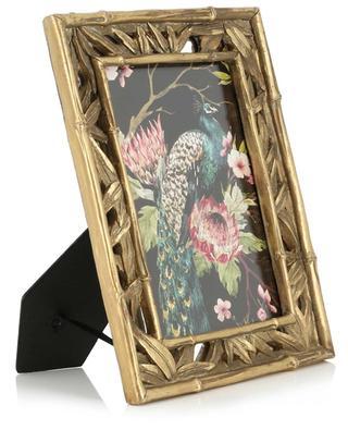 Grand cadre photo doré motif bambou KERSTEN