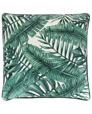Leaf pattern velvet cushion KERSTEN