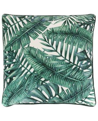 Coussin en velours motif feuilles KERSTEN
