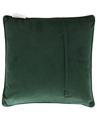 Leaf pattern velvet cushion KERSTEN