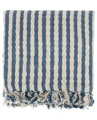 Striped cotton blend throw KERSTEN