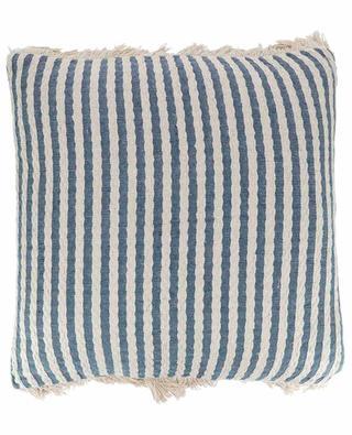 Fringed striped cushion KERSTEN