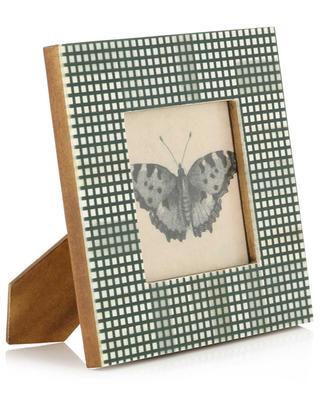 Quadratischer karierter Bilderrahmen mit Schmetterling KERSTEN