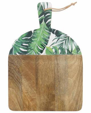 Leafs lacquered wooden bread board KERSTEN