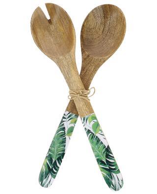 Leaf wooden salad servers KERSTEN