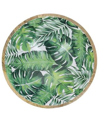 Grand bol en bois laqué Leaf KERSTEN
