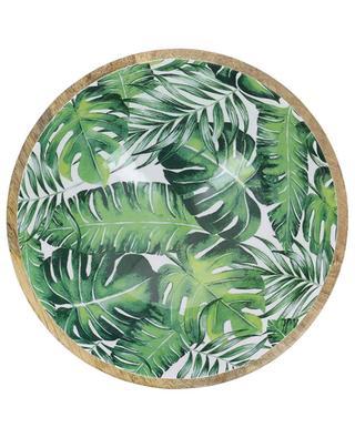 Grosse Schüssel aus lackiertem Holz Leaf KERSTEN