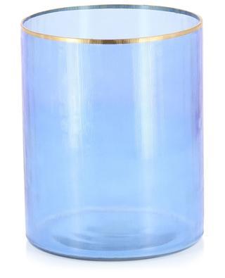 Grand photophore en verre rayé KERSTEN