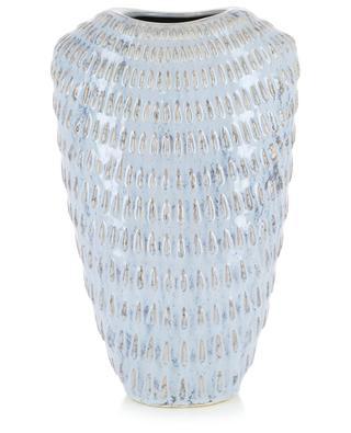 Grosse Vase aus Keramik mit Tropfenmotiv KERSTEN