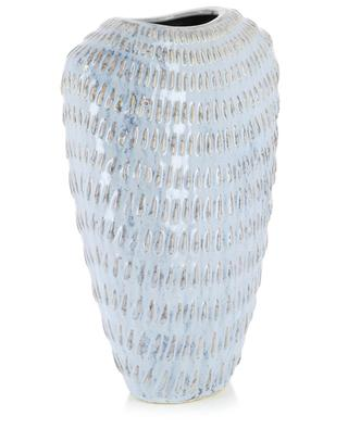 Large drop pattern ceramic vase KERSTEN