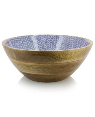 Tiles large lacquered wood bowl KERSTEN