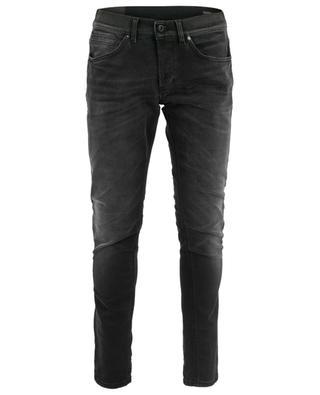 Ausgewaschene Slim-Fit-Jeans George Comfort Nero DONDUP