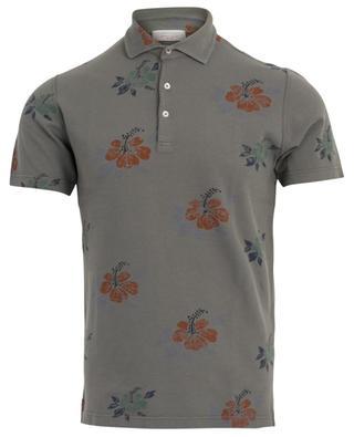 Floral short-sleeved polo shirt GRAN SASSO