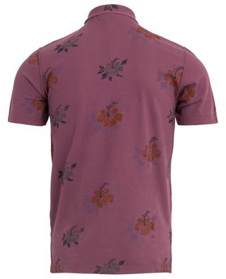 Floral short-sleeved polo shirt GRAN SASSO