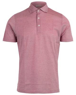 Slim-Fit Kurzarm-Polohemd aus Baumwollpiqué GRAN SASSO