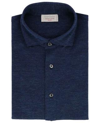 Langarm-Hemd aus Baumwollpiqué GRAN SASSO
