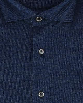 Piqué cotton long-sleeve shirt GRAN SASSO