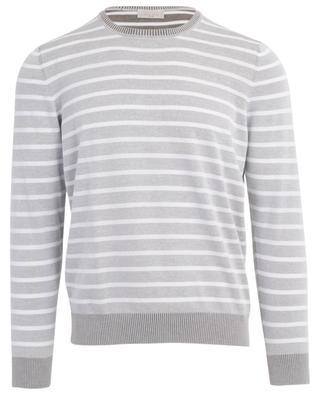 Striped lightweight cotton jumper GRAN SASSO