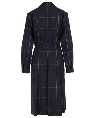 Glitter check adorned midi wrap dress LORENA ANTONIAZZI
