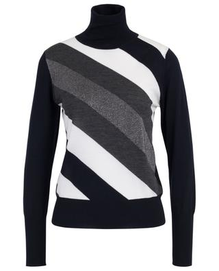 Turtleneck jumper with sparkling diagonals LORENA ANTONIAZZI