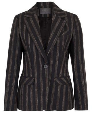 Virgin wool and linen blend striped blazer LORENA ANTONIAZZI