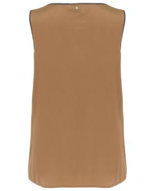 Silk blend sleeveless top LORENA ANTONIAZZI