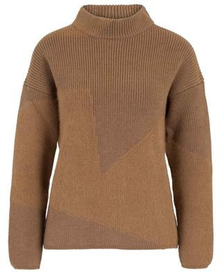Virgin wool and angora blend stand-up collar jumper LORENA ANTONIAZZI