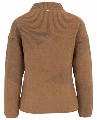 Virgin wool and angora blend stand-up collar jumper LORENA ANTONIAZZI