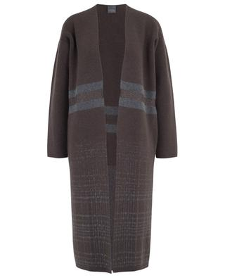 Long cardigan with stripes and checks LORENA ANTONIAZZI