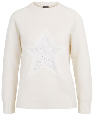 Jumper adorned with sequin star LORENA ANTONIAZZI