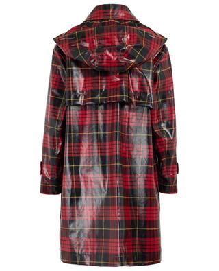 Manteau ciré oversize motif tartan TWINSET
